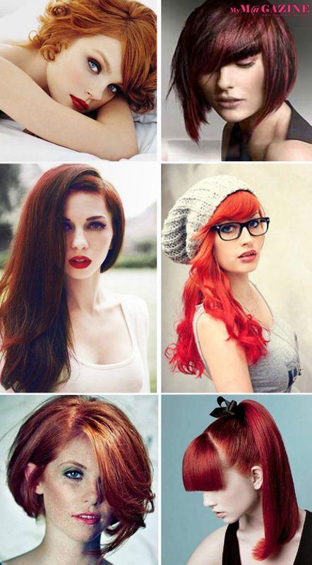 Dal sottotono prugna al rosso tiziano, le chiome rosse risalgono la classifica dei colori moda dei capelli. Scopri quale tonalità di rosso si addice meglio alla tua carnagione a pag 43 di MyM@gazine n.12  http://my-magazine.it/download.html