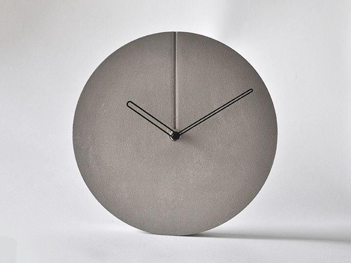 Concrete Minimal Wall Clock 240 x 30 mm / $598 / #minimal #concrete #béton #cement #wall #clock