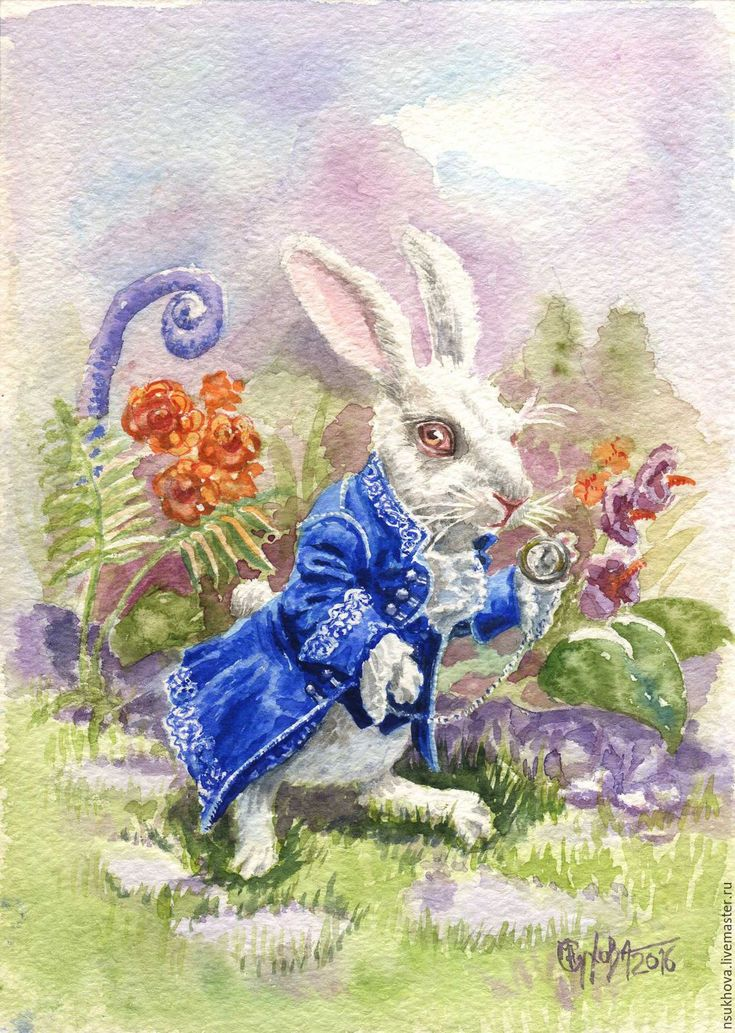 Заяц из алисы картинки