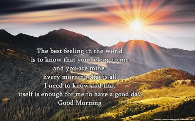 good morning wishes for girlfriend in english