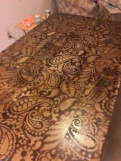 Wags To Riches: My First Project - Paisley Table http://gigiswagstoriches.blogspot.com/2016/02/my-first-project-paisley-table.html?m=1