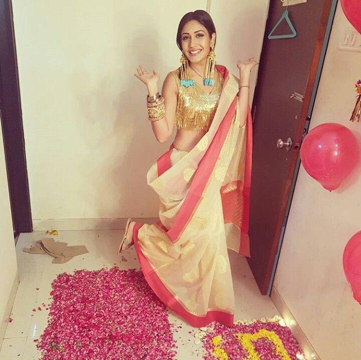 Annika in a saree
