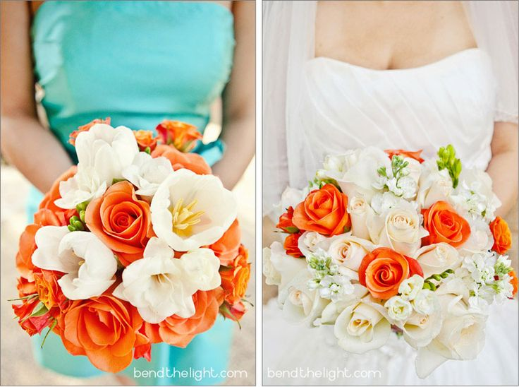 orange and turquoise wedding | andrea & ken {club at sonterra wedding and reception} » Bend The ...