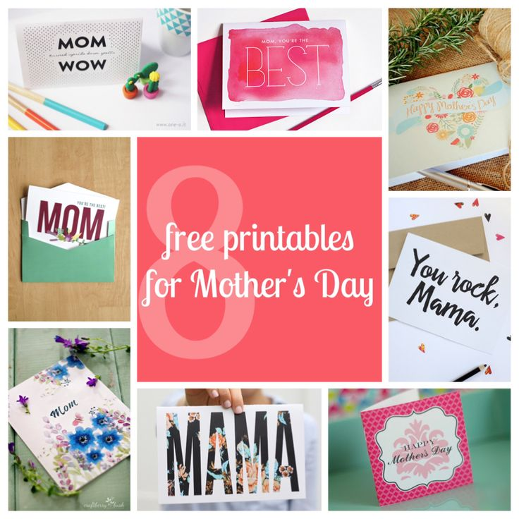 8 free printables   downloads for Mother's Day #mothersday #cards