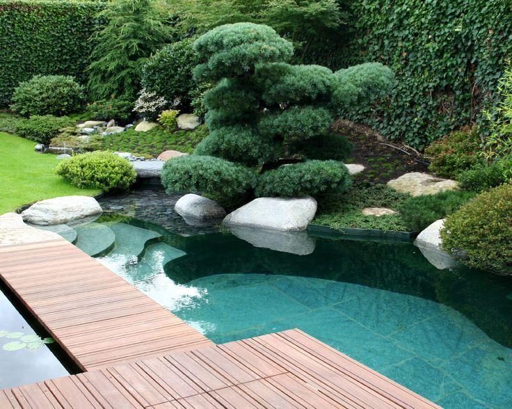 Gartengestaltung Gartengestaltung Teichgestaltung Teichgestaltung Schwimmteich Schwimmteich Asiat Wasserbecken Garten Teichgestaltung Naturschwimmbecken