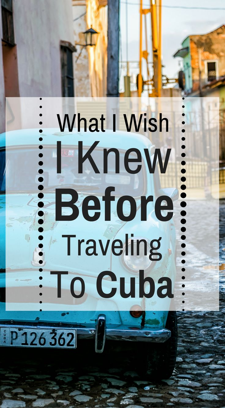 What I wish I knew before traveling to Cuba. Survival Tips, Hints and tricks for Travel in Cuba. A beautiful Caribbean island, Cuba is widely known for its rum, white beaches and tobacco. But Cuba also has incredible mountains, valleys and cities that date back almost 600 years. Click to read more at http://www.divergenttravelers.com/survival-tips-independent-travel-cuba/
