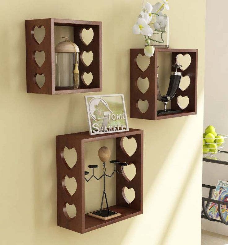 Home Sparkle 3 Cube Shelves Wooden Wall Shelf Price In India   Buy Home  Sparkle 3
