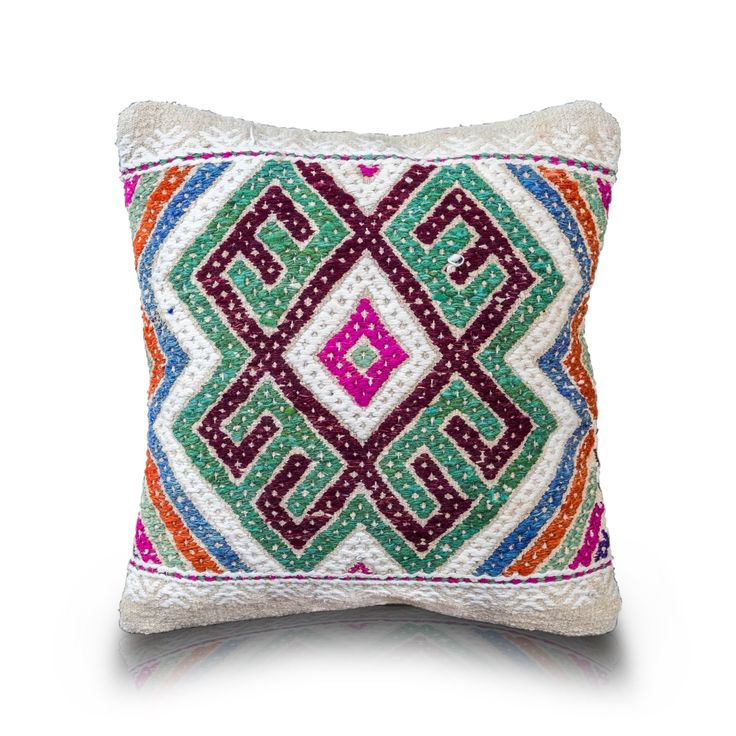 "Vintage Kilim Pillow Case - Handmade Pillow Cover - 15""x15"" - PLLWSQR1227"