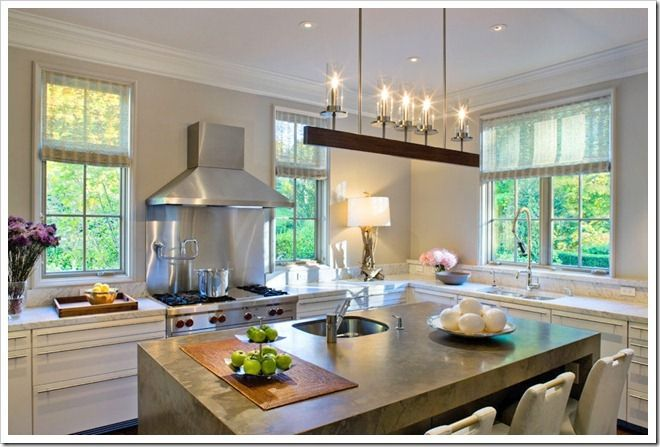 Best 32 Best Images About No Upper Cabinets Kitchens On Pinterest 640 x 480