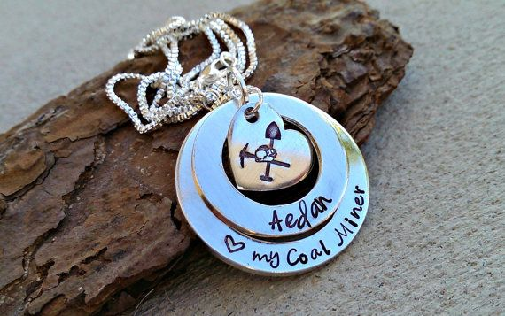 Love My Coal Miner Necklace  Coal Miner Wife by SweetAspenJewels, $28.00