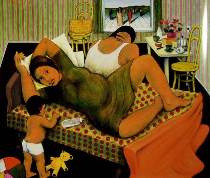 The Immigrants by Robyn Kahukiwa