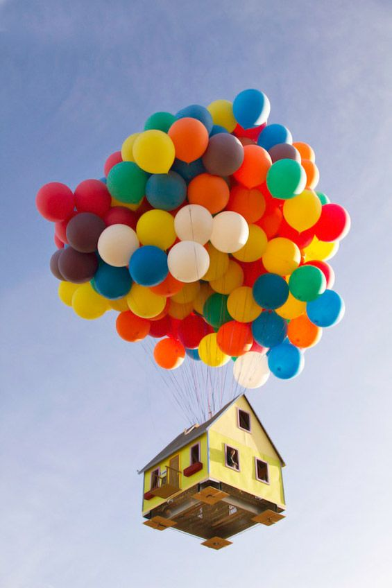 "Real life ""UP"" – The Flying House"