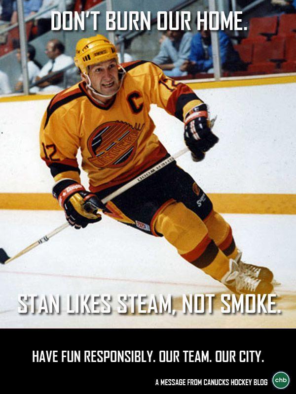 3rd Poster in #CHB's Celebrate Responsibly series - Stan Smyl - #Canucks #NHL