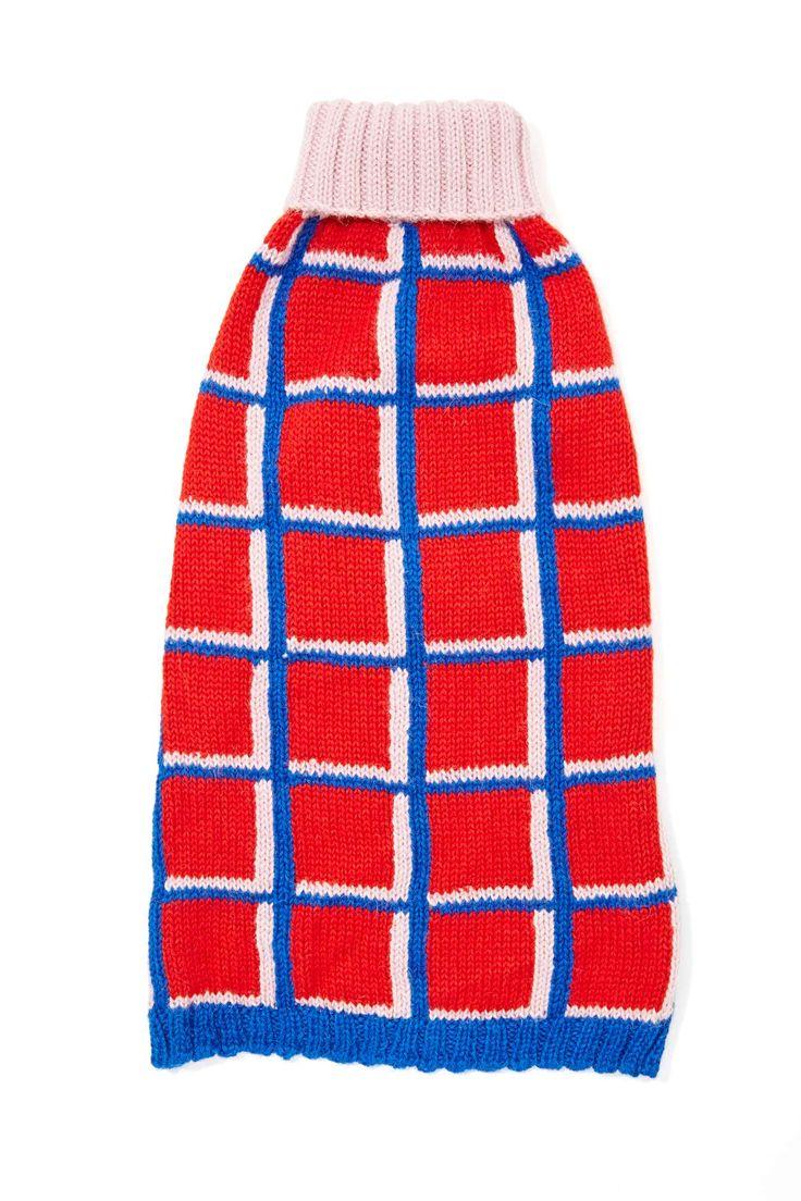Dusen Dusen Cube Tube Dog Sweater Knitting women sweater