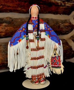 Native American Sioux Indian Powwow Dancer Doll by Marge Moueaux