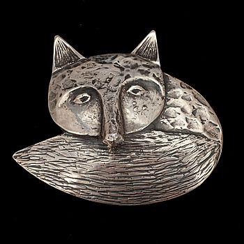 """Eila Minkkinen ~""""Fox"""" Sterling Silver #brooch, 2011.   Bukowskismarket.com"""
