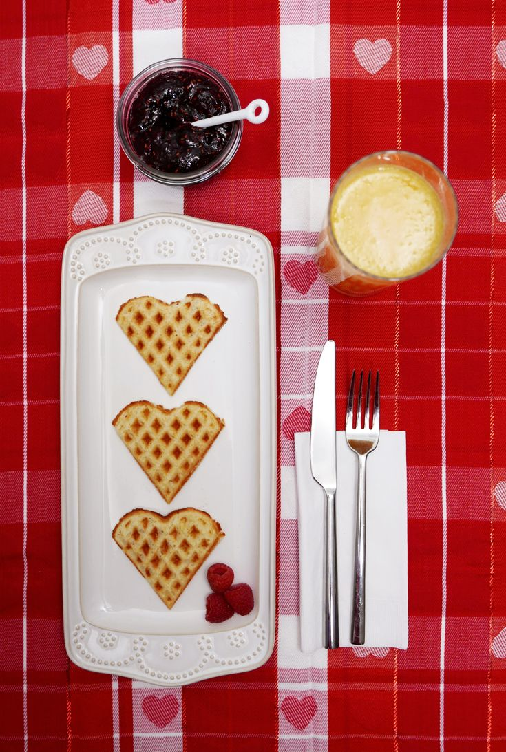 Give your family heart-shaped waffles on Valentine's Day and feel the love. Featured product: Euro Cuisine heart-shaped waffle maker and Food Network Fontinella plate. Fall in love at Kohl's. #ValentinesGoals