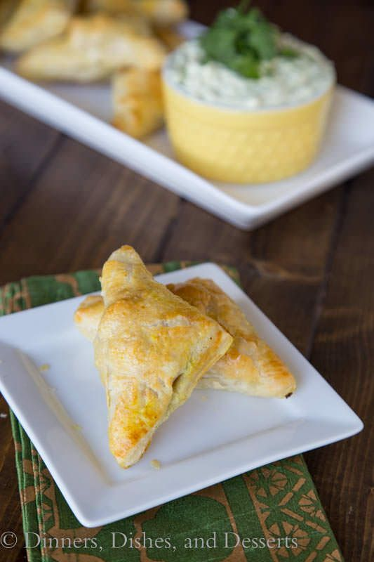 Use Puff Pastry to make easy and flaky chicken turnovers with lots of Brazilian spices and a cool yogurt dipping sauce.