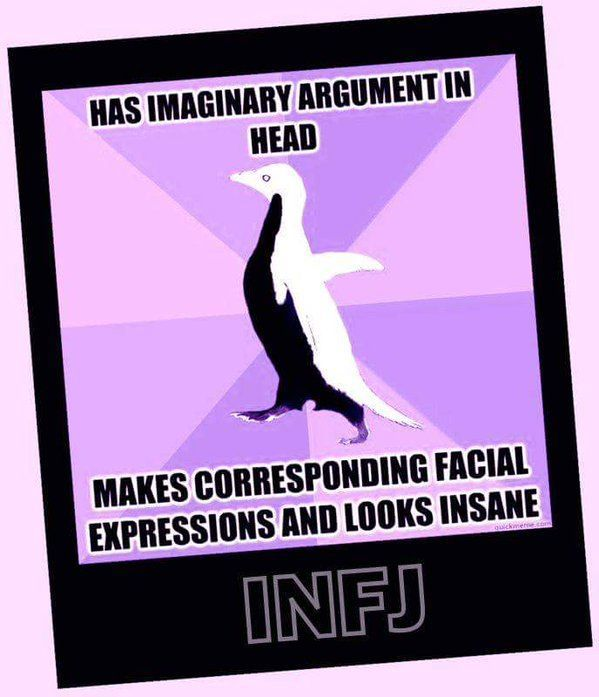 Image result for infj personality funny weakness