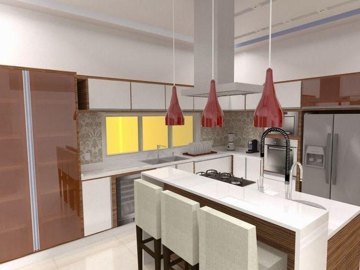 pendente e coifa na cozinha - Pesquisa Google