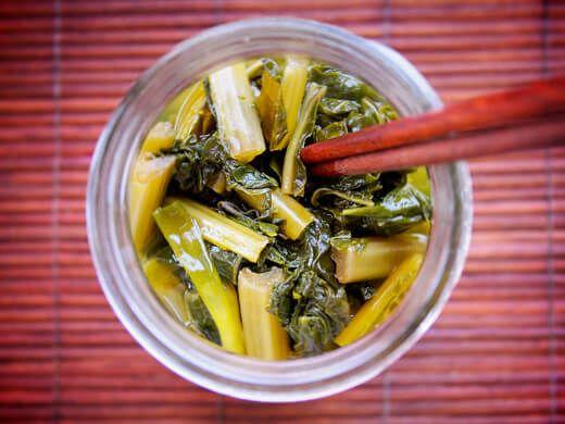 Vietnamese pickled mustard greens (cải chua)