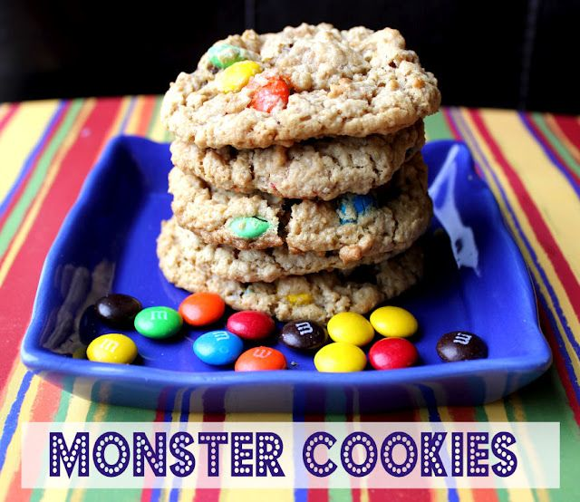 Monster Cookies from @jamiecooksitup: Cookies My Favorite, Cookie Monster, Cookies Bars, Food, Monsters, Favorite Recipes, Cookie Recipes, Dessert