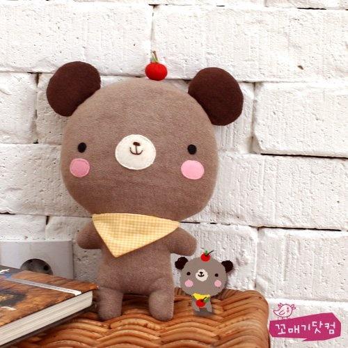 bear with apple plushie // osito con manzana peluche