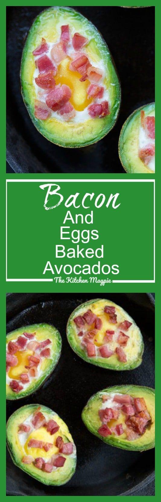 Bacon & Eggs Baked Avocado - The Kitchen Magpie