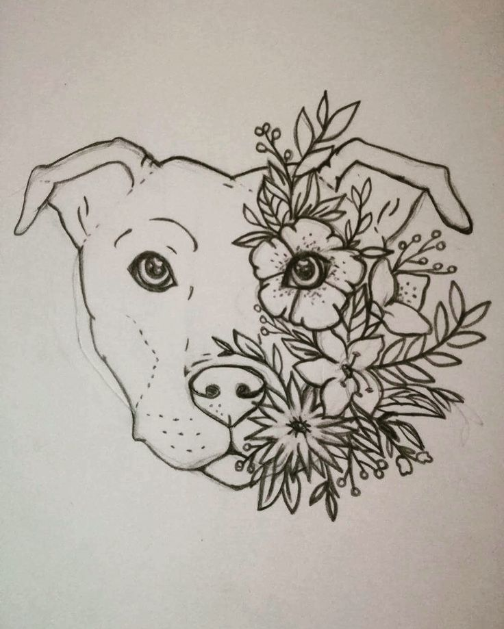 coolTop Women Tattoo - Turn this into a lotus tattoo!! Staffy tattoo Staffordshire bull terrier Floral ...
