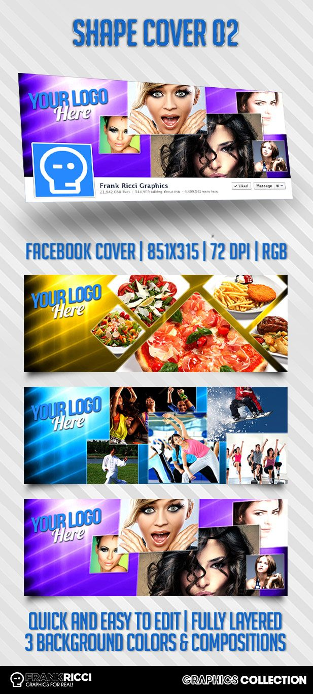 Cover Facebook Shape 02 - PSD Template Available on http://frankricci.it/shape-cover-02/