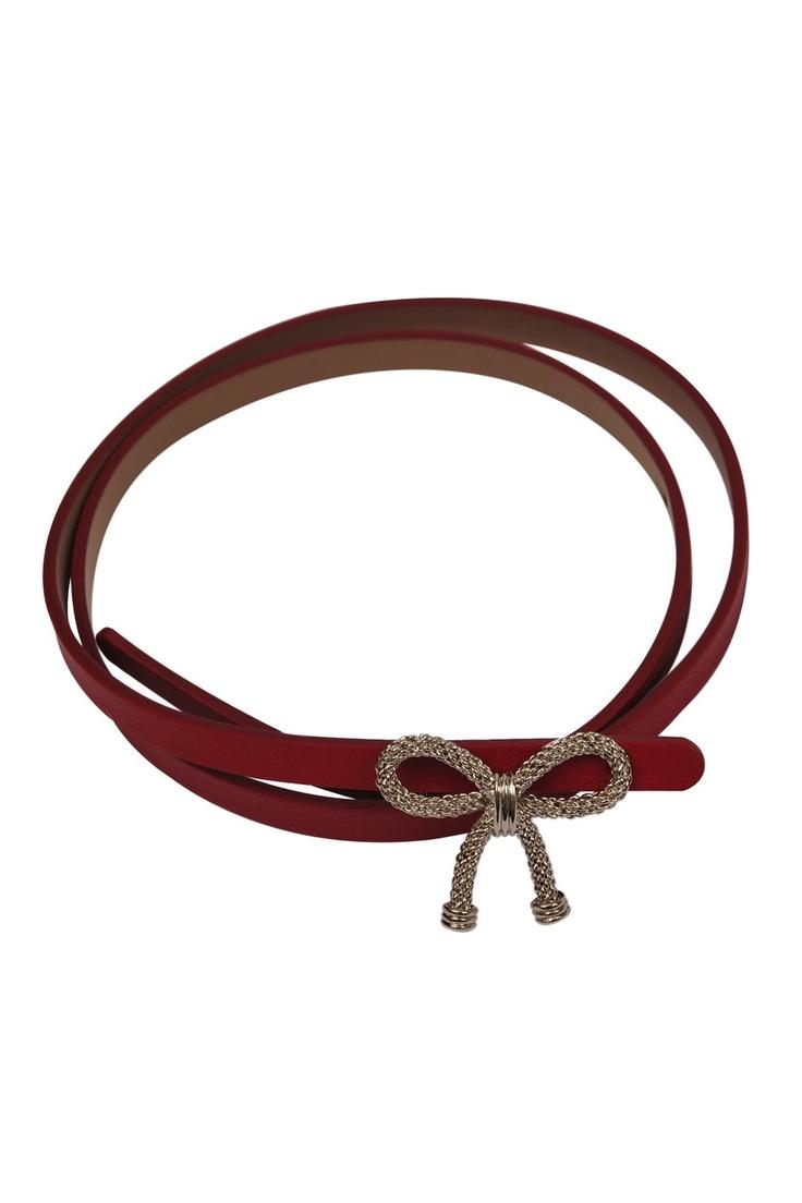 Red Valetnino-bow belt
