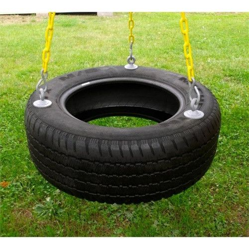 Eastern Jungle Gym 3-Chain Rubber Tire Swing - Add a totally fun activity to your backyard with the Eastern Jungle Gym 3-Chain Rubber Tire Swing with coated chain that demands very low maintenance....
