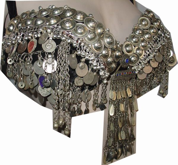 Inspiration for decorating a Bra for Tribal Style Belly Dance