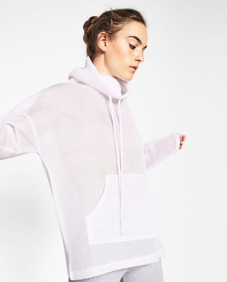 SWEATSHIRT WITH HIGH COLLAR