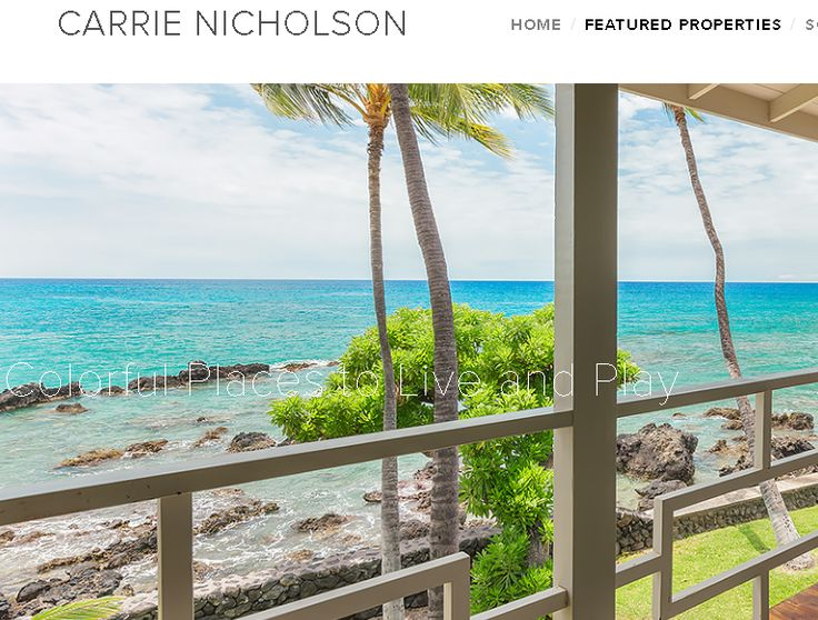 Real Estate Tagline Example | This screen capture shows a Hawaii Islands agent taking full branding advantage of amazing listing photos. #realestatebranding #hawaii