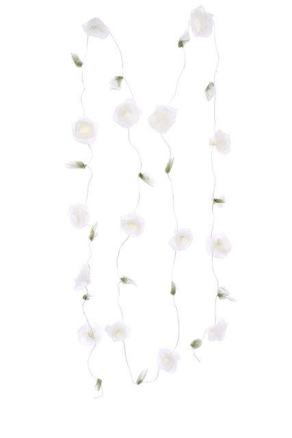 Guirlande de roses ivoire, En voile irisé 2.5 m
