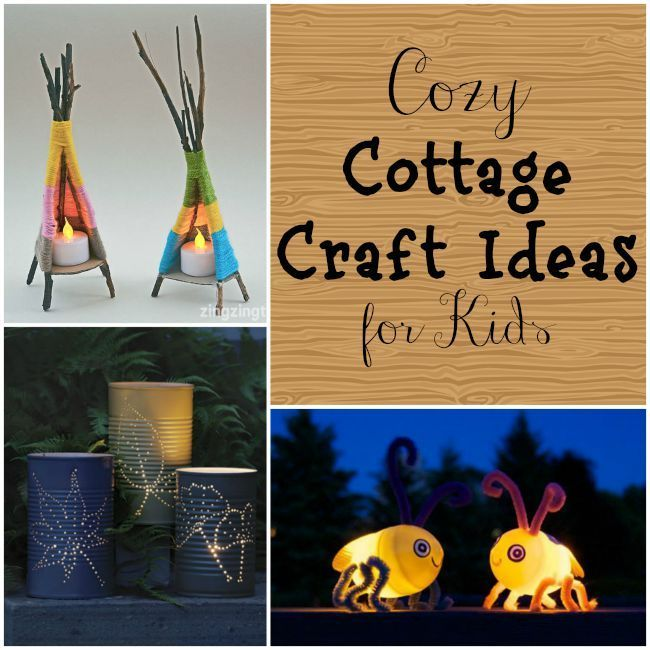 Cottage craft ideas perfect for kids this summer! Love that firefly craft!
