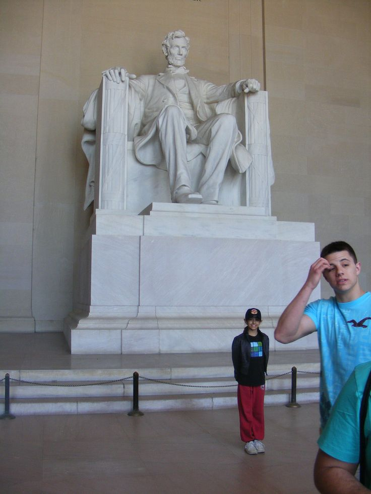 Spending some quality time with Lincoln at the Lincoln Memorial, Washington, D.C.
