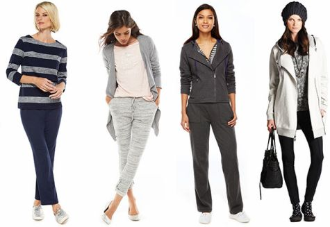 Marled sweatpants would be really cute while super comfy.  Must have.