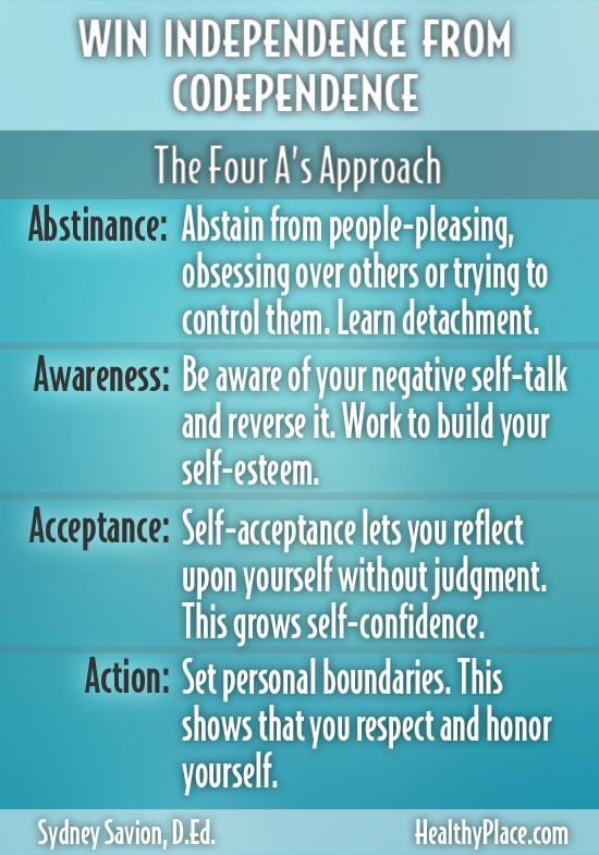 """Are your identity, value and purpose dependent on the approval of someone else? Learn how to lose codependency and win your independence."" www.HealthyPlace.com"