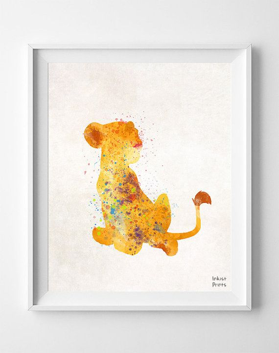 Lion King Poster Print Nala Disney Art Simba Baby Shower Gift Nursery Room Dorm