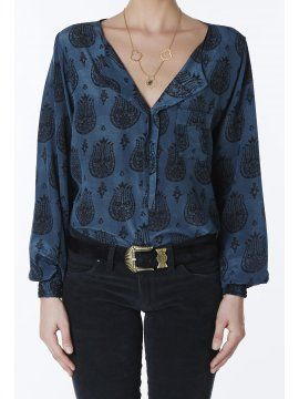 Paloma Silk Top - Goddess of Babylon