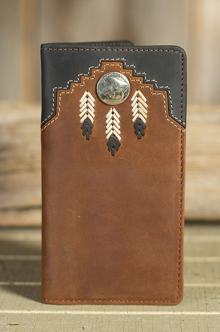 Chieftain Feather Leather Checkbook Wallet | Overland Sheepskin