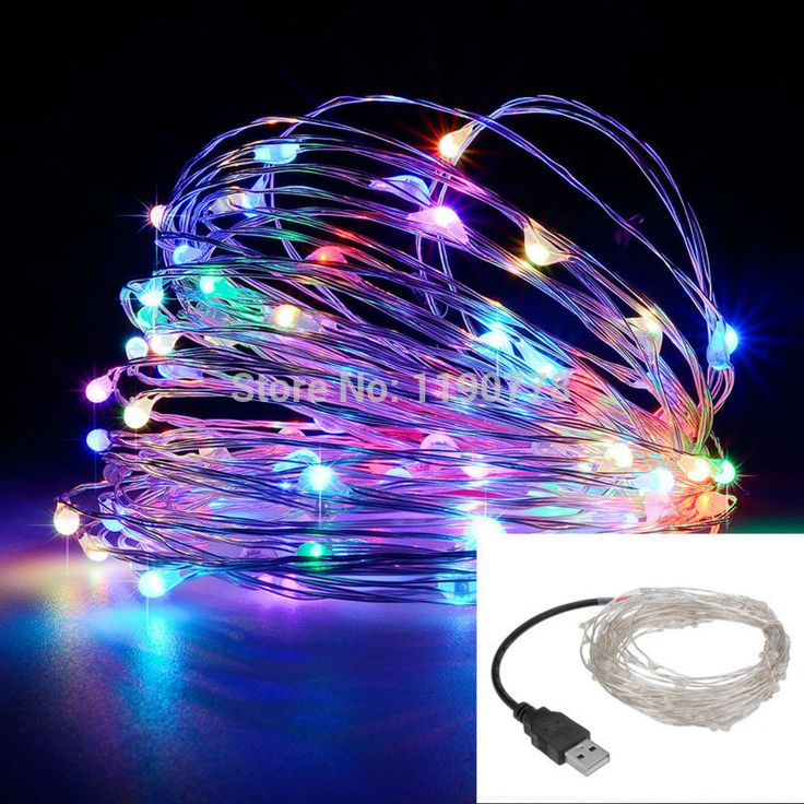 Led string lampu 10 M 100led 33ft 5 V USB powered luar Hangat putih/RGB kawat tembaga natal festival pesta pernikahan dekorasi
