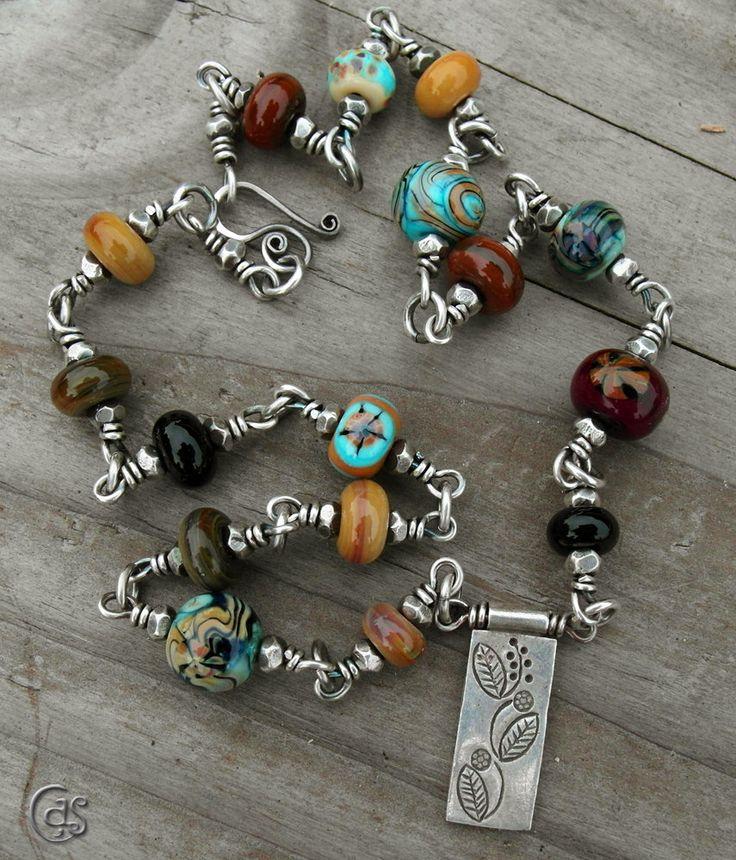Autumn Fashion Necklace Artisan Lampwork Glass Beaded Jewelry. $223.00, via Etsy.