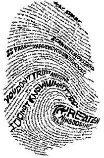 Art class inspiration: Identity. Finger print artwork again. I like this theme.