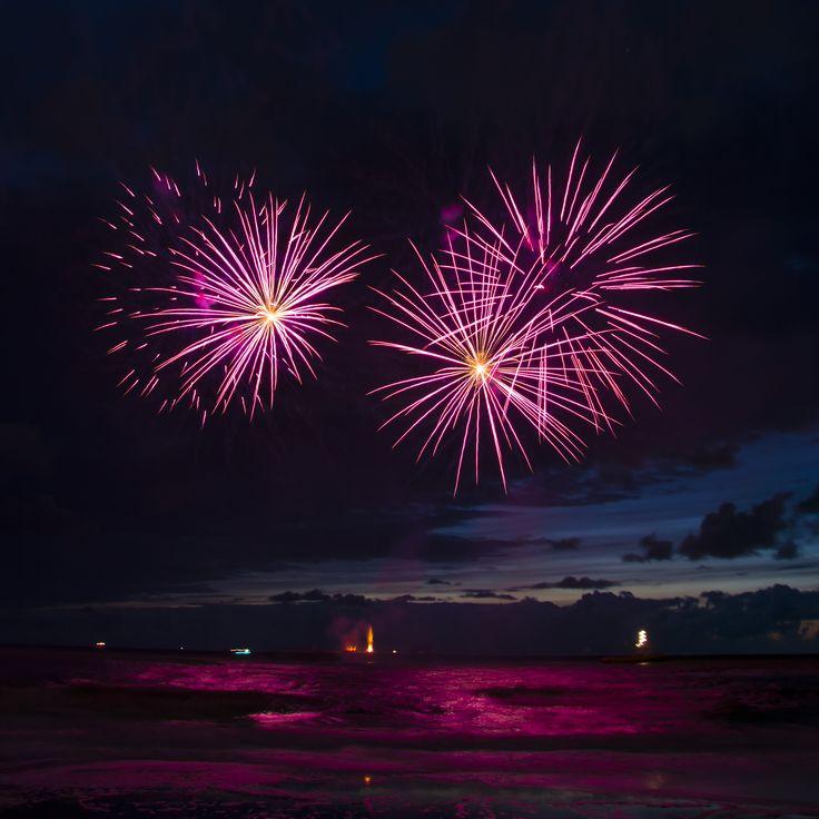 Fireworks seen in august 2014 in Scheveningen at the Firework Festival