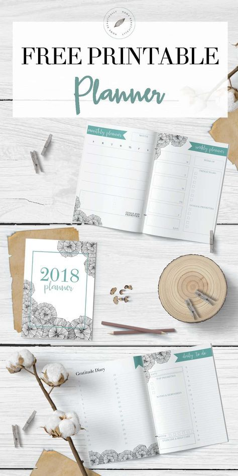 Free Printable 2018 Planner {subscription required}