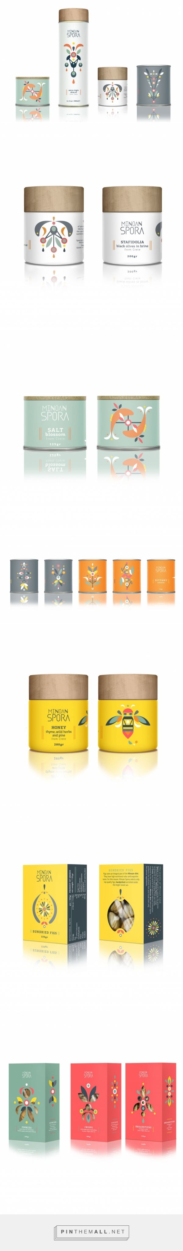 "Minoan Spora - ""Minoan Spora is a range of products from the island of Crete, including olive oil, herbs and infusions, honey, olives, rusks and cookies. / designed by lazy snail , Eleni Pavlaki"