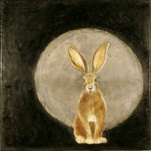 "In the black furror of a field I saw an old witch-hare this night; And she cocked a lissome ear, And she eyed the moon so bright, And she nibbled of the green; And I whispered ""Whsst! witch-hare,"" Away like a ghostie o'er the field She fled, and left the moonlight there."